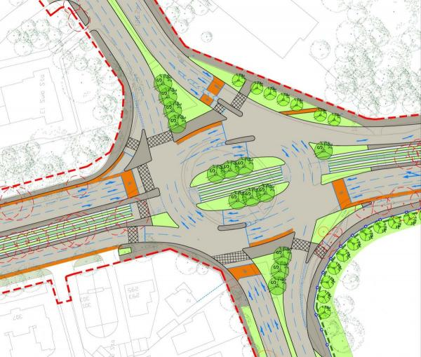NGT plans for Lawnswood Roundabout